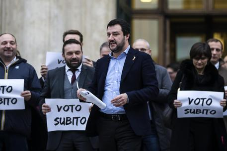Salvini, subito al voto o in piazza © ANSA