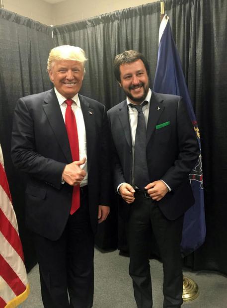 """Résultat de recherche d'images pour """"Salvini  Trump"""""""