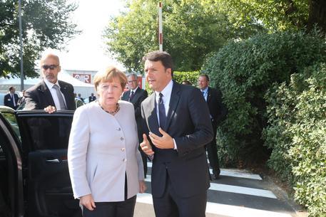 Merkel-Renzi (archivio) © ANSA