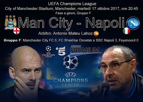 Champions, Manchester City-Napoli © ANSA
