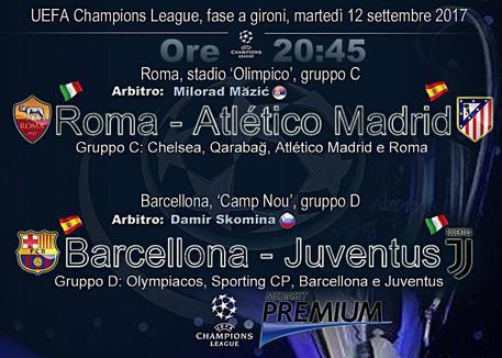 Champions, Juventus e Roma in campo © ANSA