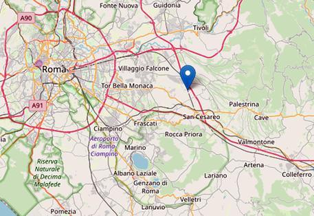 Terremoto a Roma, l'epicentro a Colonna © ANSA