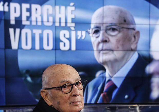 Giorgio Napolitano a Porta a Porta © ANSA