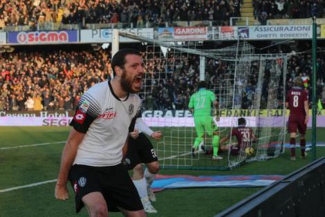Il gol del Cesena alla Lazio