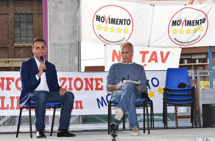 Foto d'archivio di Luigi Di Maio e Marco Travaglio