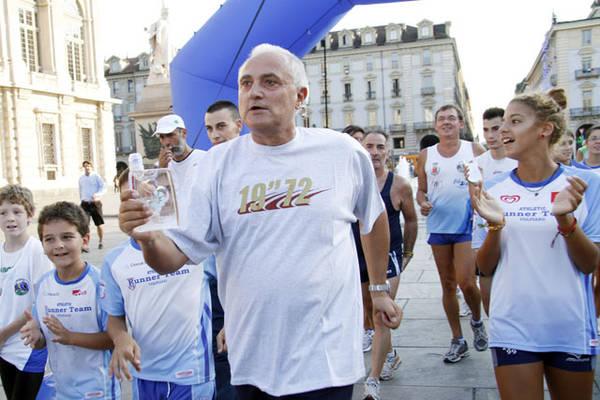 Pietro Mennea alla Staffetta dell'Acqua organizzata da Federutility