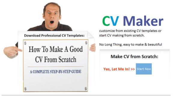 how to make a cv