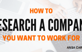 how to research a company