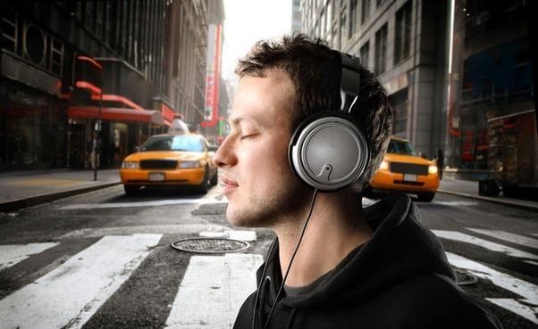 wearing headphone