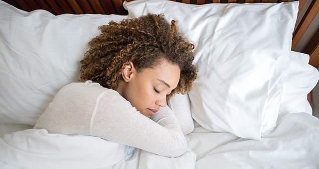 woman slepping