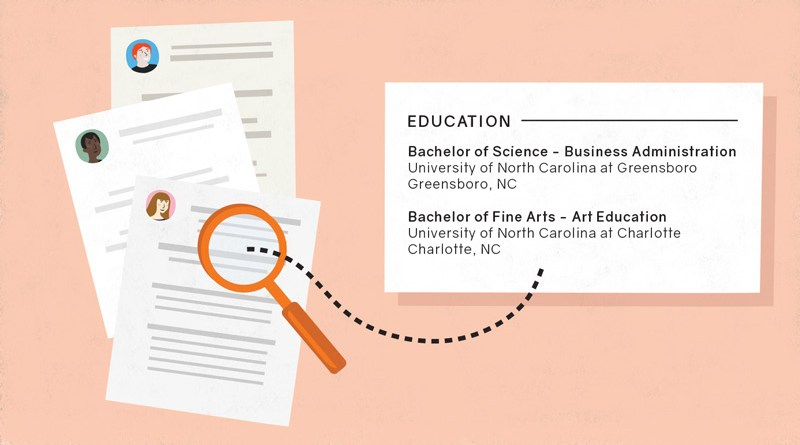 education on resume