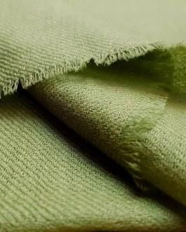 Étole Cachemire Unie «Vert Olive»
