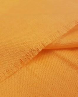 Étole Cachemire Unie «Orange Pastel»