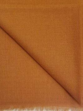 Étole Cachemire Unie «Orange Brulée»