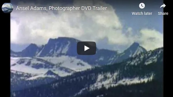 Ansel Adams, Photographer Trailer
