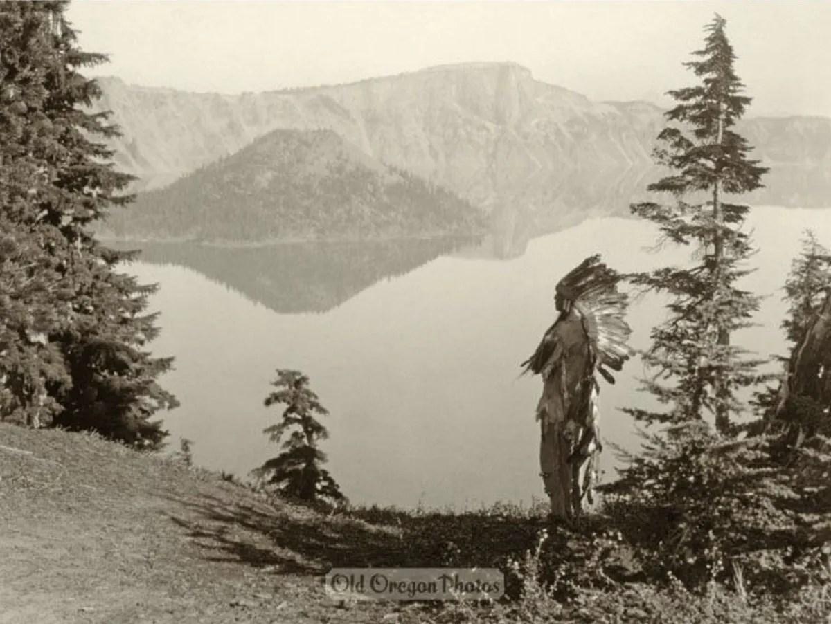 A Klamath Chief at Crater Lake, ca. 192