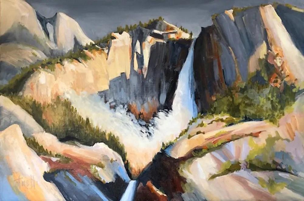 """Penny Otwell, """"Moving Light, Yosemite Fall"""""""