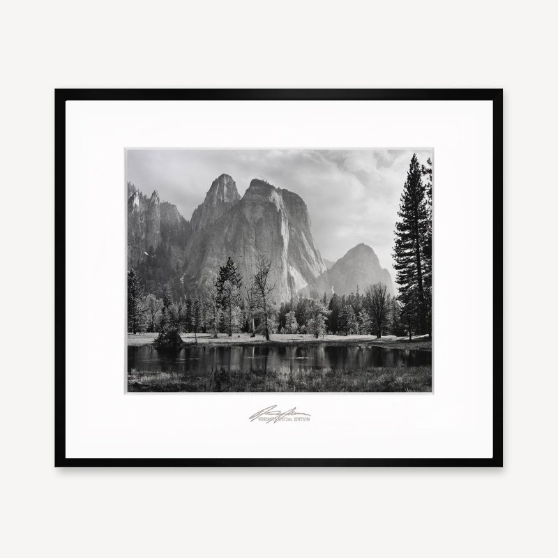 Cathedral Peaks by Ansel Adams