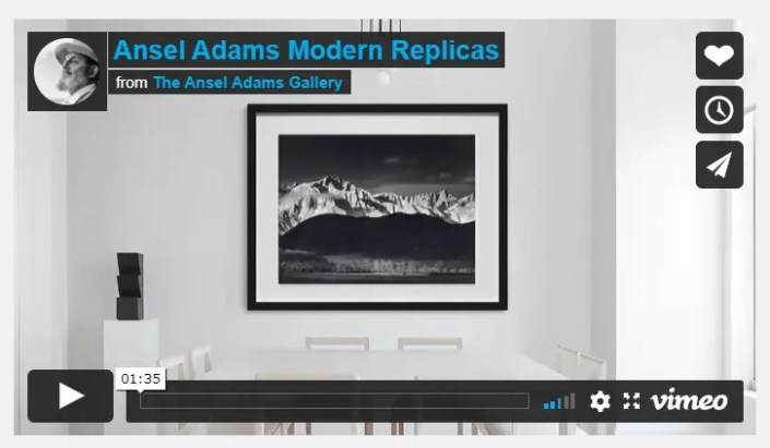 About Ansel Adams Modern Replicas Video
