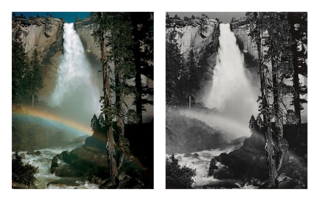 Nevada Fall, Rainbow by Ansel Adams
