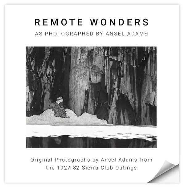 Remote Wonders photographs from the 1927-32 Sierra Club Outings