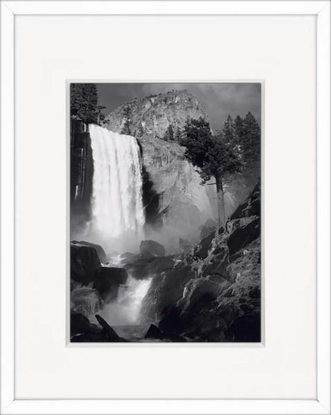 Vernal Fall by Ansel Adams Framed