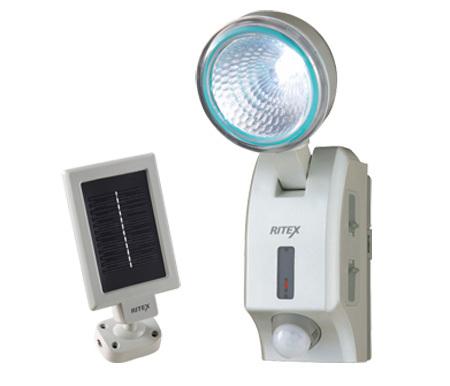 LEDハイブリッド(ソーラー+電池)センサーライトRITEX(ライテックス)S-HB300