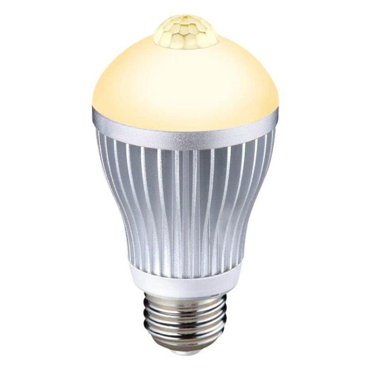 人センサー付LED電球40型 S-LED40 電球色(L)