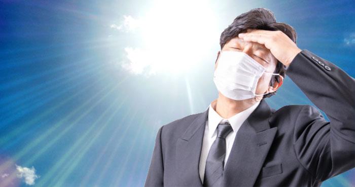 マスク着用での熱中症に注意!