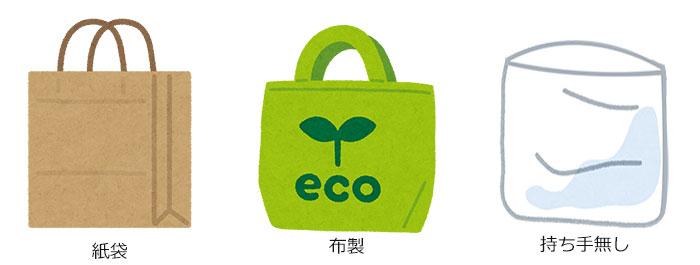 レジ袋有料化対象外の袋