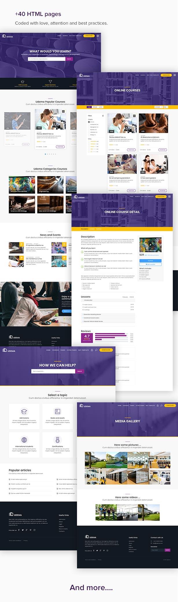 UDEMA - Modern Educational Site Template LMS