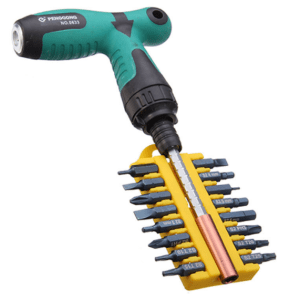 Ratcheting T-Handle Screwdriver Wrench