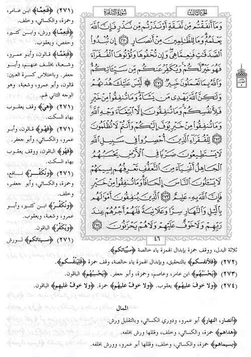 Here is a copy of a random page from one of the Qur'ans where you can see the variant readings listed in the margin. Which is the most accurate? Approximately two thirds of the verses of the Qur'an have some type of variant, which total approximately 4000 variants. Out of the 4000 examples, which reading is the most correct?