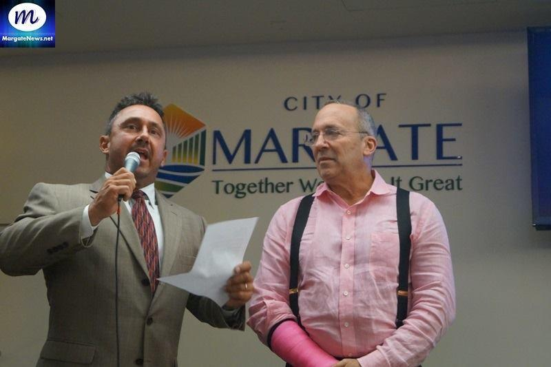 Margate Mayor and Michael Shooster