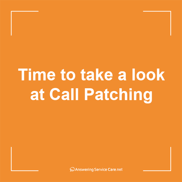Time to take a look at Call Patching