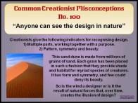 Creationist Misconceptions No. 100 - Design