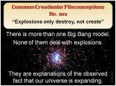Creationist Misconceptions No. 102 - Explosions
