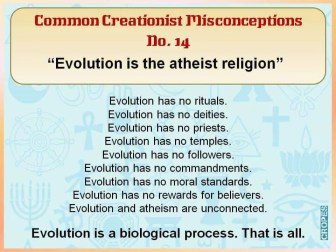 Evolution the atheist religion