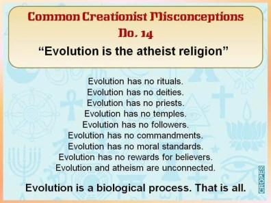 Evolution the atheist religion