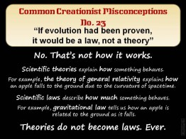 Creationist Misconceptions No. 23 - Law v Theory hack