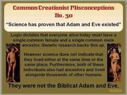 Creationist Misconceptions No. 30 - Adam & Eve
