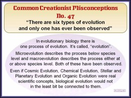Creationist Misconceptions No. 47 - 6 types of evolution