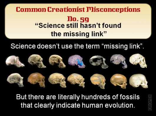Creationist Misconceptions No. 59 - Missing link