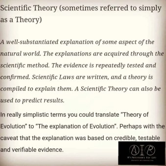 Scientific Theory - Just a Theory