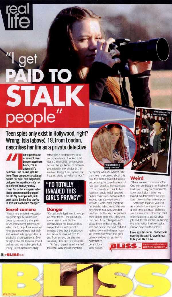 Teenage Private Detective Bliss Magazine