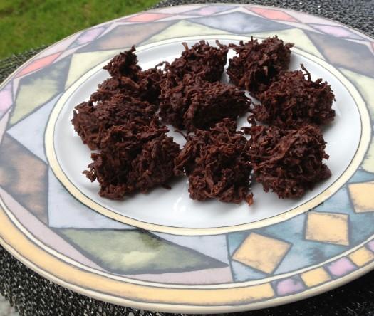 paleo diet challenge day 6 chocolate coconut haystacks