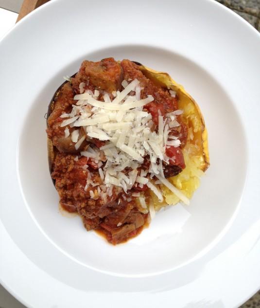 paleo diet challenge day 7 spaghetti squash