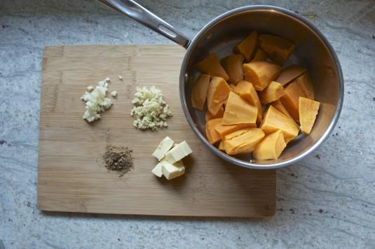 five spice sweet potato puree ingredients