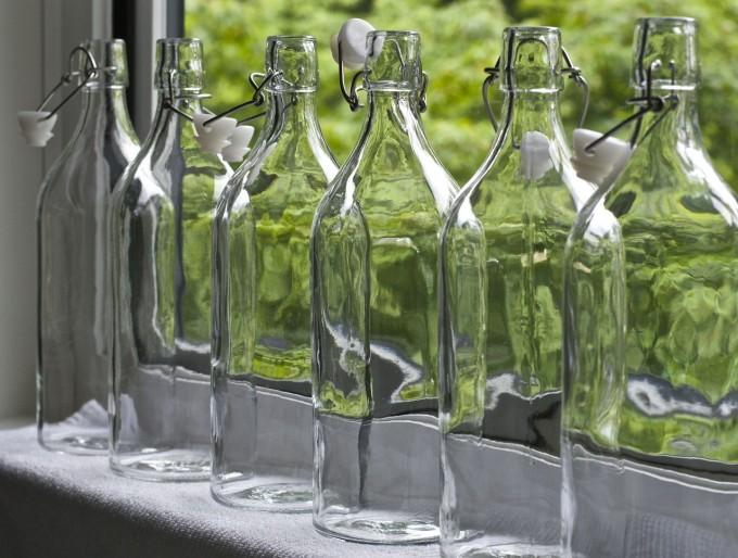 kombucha empty glass bottles