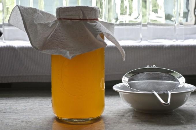 kombucha glass jar strainer